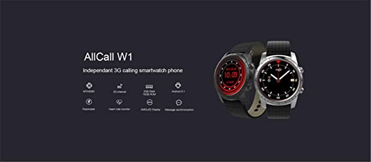 Amazon.com: Hot SaIes!AllCall W1 Smartwatch for IOS Android ...