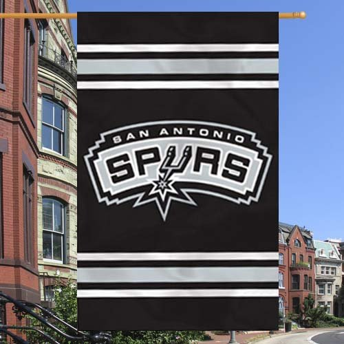 Party Animal San Antonio Spurs 2-Sided Applique Banner Flag -