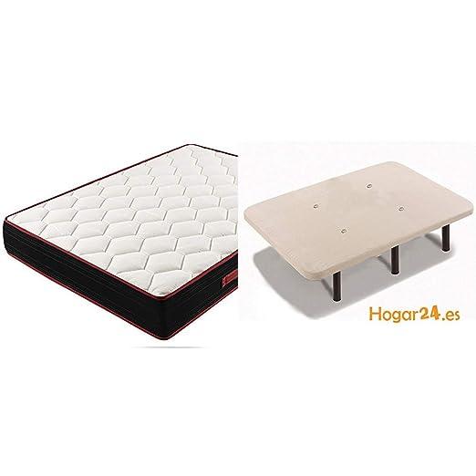 HOGAR24 Colchón Viscoelástico Reversible Memory Fresh 3D-90x180cm: Amazon.es: Hogar