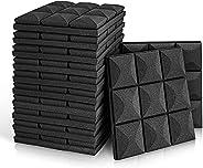 """Kuchoow 12 Pack Sound Proof Foam Panels 2"""" X 12"""" X 12"""" Foam for Walls Sound Absorbing Foam Padd"""