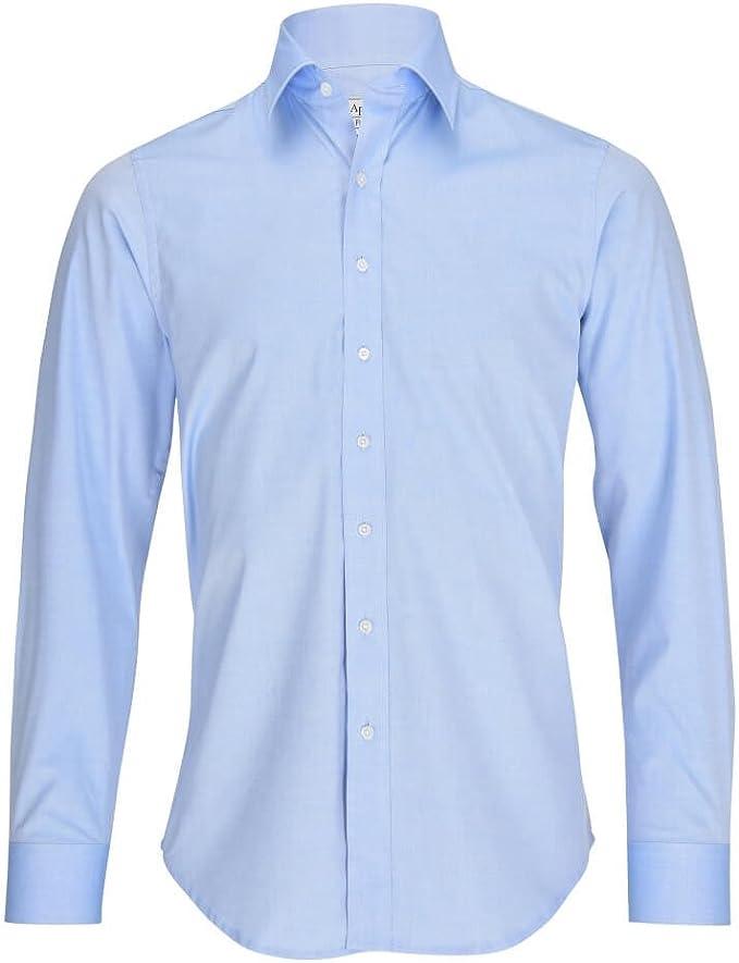 ALLBOW - Camisa para hombre con parches de codo, color azul, corte ...