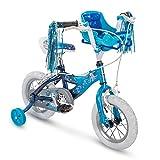 Huffy Disney Frozen - Bicicleta para niñas con Ruedas de Entrenamiento y muñeca para Elsa