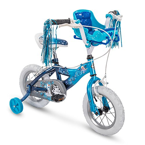 Disney Princess Bicycle - Huffy Bicycle Company Kids Bike for Girls, Disney Frozen, Elsa, Sky Blue, 12 inch