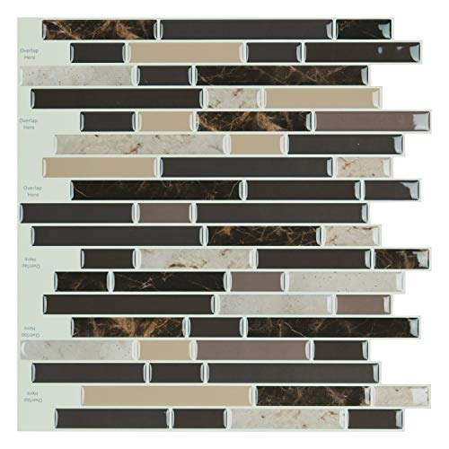 Art3d Self Adhesive Wall Tile 12 x 12inches10 Tiles Peel and Stick Backsplash for Kitchen Bathroom