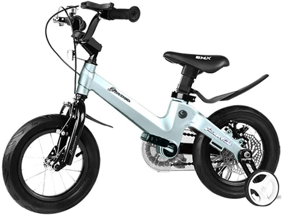 SGMYMX プリンセス学生の自転車 子供用自転車少女少年マグネシウム合金自転車、トレーニングホイールと95%アセンブリ 子供の自転車 (Size : B)  B