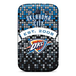 DAMillers Premium Protective Hard Case For Galaxy S3- Nice Design - Oklahoma City Thunder