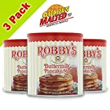 Golden Malted Robby's Buttermilk Pancake Mix, 33-Ounce Cans (Pack of 3)