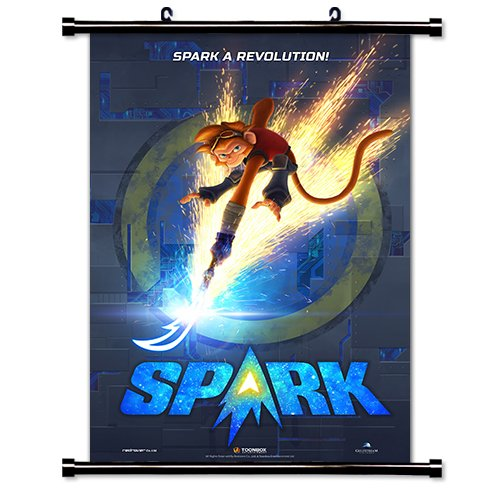 Spark A Space Tail Movie Wall Scroll Poster  16X24  Inches