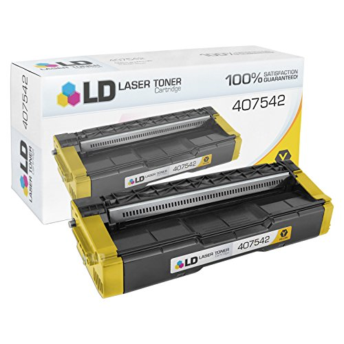 LD Compatible Toner Cartridge Replacement for Ricoh SP C250 407542 (Yellow)
