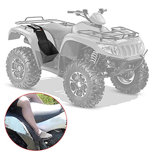 Atv Footrest - ATV Rear Passenger Footrests, Sportsman 570 Foot Rest Passenger Adjustable Universal fit Polaris Sportsman Honda Rancher Yamaha Grizzly Made With Heavy Duty 600D Oxford Cloth Foldable ATV Foot Pegs