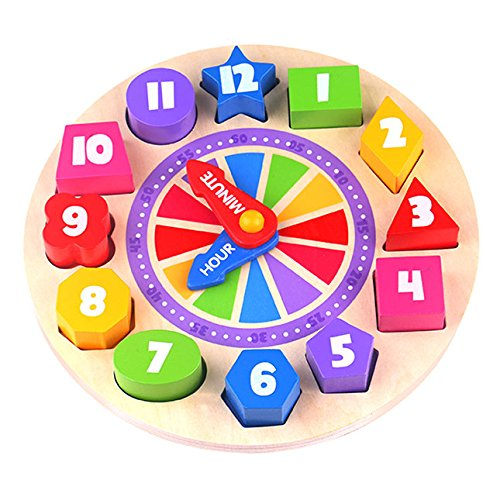 Fat Brain Toys Glow in The Dark Clock Puzzle - What Time is It? Glow in The Dark Clock Puzzle