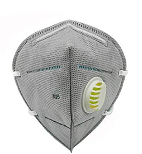 (10 PCS Dust Mask Respiratory Value Anti- Haze Masks Mouth-muffle With Filter Activiated Carbon Efficient Exhalation Respirator Masks Industrial Dust Haze PM2.5(Grey))