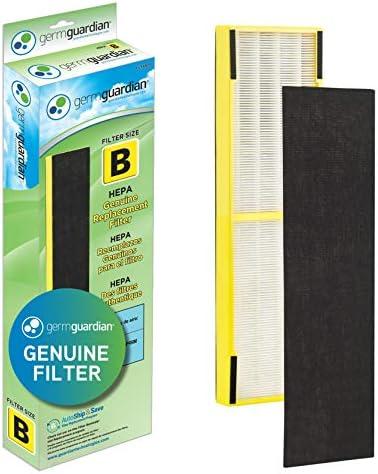 Germ Guardian FLT4825 HEPA GENUINE Air Purifier Replacement Filter B for GermGuardian AC4300BPTCA, AC4900CA, AC4825, AC4825DLX, AC4850PT, CDAP4500BCA, CDAP4500WCA and More, 1-Pack