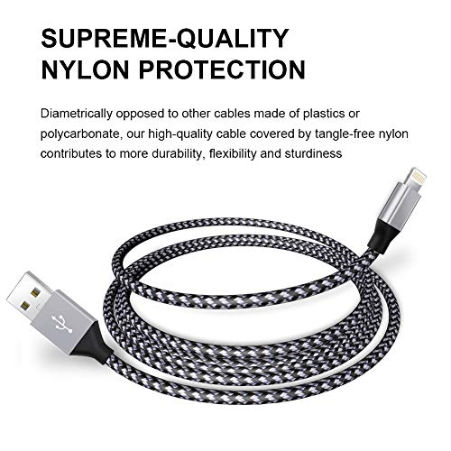 Color : Grey, Length : 200cm USB Extension Cable 3.1A Metal Nylon Braided Phone Cord for iPhone Fast Charger Lighting USB Cable for iPhone 11 X 8 7 6 Pro Max Plus IPad Cell Phone Cables
