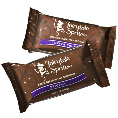 Fairytale Brownies Ultimate Bar, Sprite & Cookie Combo Gourmet Food Gift Basket Chocolate Box - 3 Inch x 1.5 Inch Snack-Size Brownies Plus Blondie Bars and Cookies - 36 Pieces