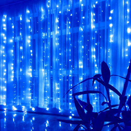 LED Curtain Light, Blue]()