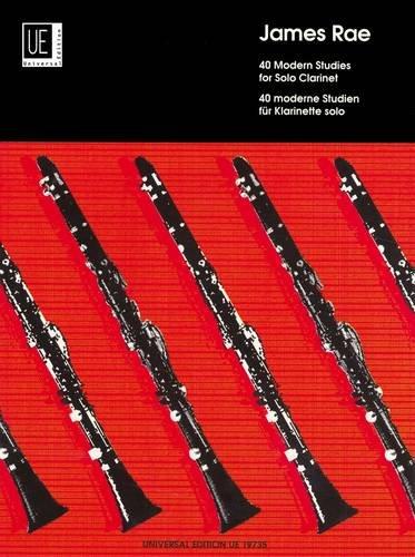 40 Modern Studies: für Klarinette. (Englisch) Musiknoten – 1. Januar 2003 James Rae Universal Edition AG 3702413855 Instrumentenunterricht