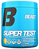 Beast Sports Nutrition Super Test Powder-Fast-Acting Test Booster with KSM-66 Increase Testosterone & Nitric Oxide, Liver & Kidney Support. Build Muscle, Burn Fat, Boost Libido. 45 Servings, Iced Tea