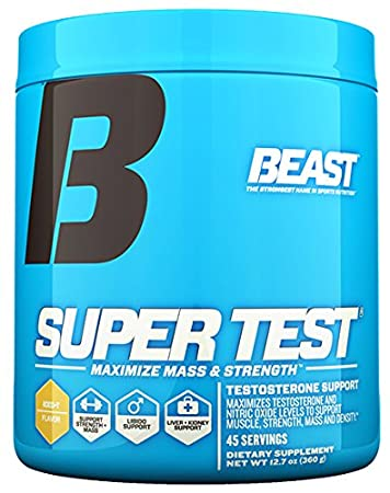 Beast Sports Nutrition Super Test Powder-Fast-Acting Test Booster with  KSM-66 Increase