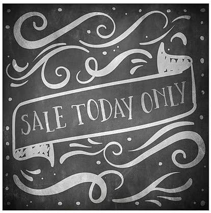 16x16 5-Pack Chalk Banner Window Cling CGSignLab Sale Today Only