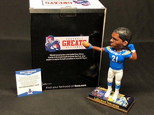 LaDainian Tomlinson Signed San Diego Chargers Forever Football Bobblehead BAS - Beckett - Signed Tomlinson Ladainian Football