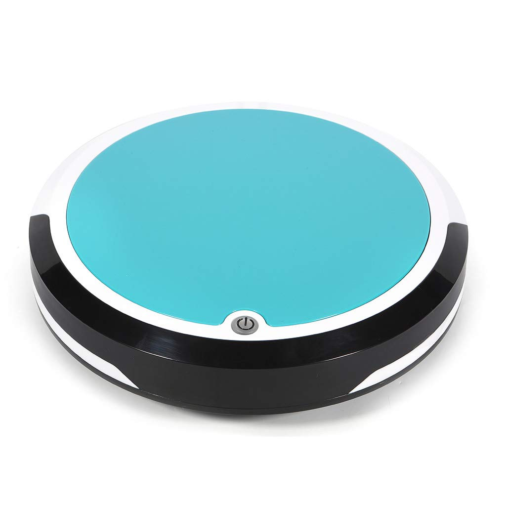 Smart Robot Vacuum Cleaner, 2019 Powerful Suction Rechargeable Intelligent Vacuum Cleaner, App Control, Robot Vacuum Best for Pet Hair, Hard Floor & Carpet Sweaping Machine (Sky Blue)