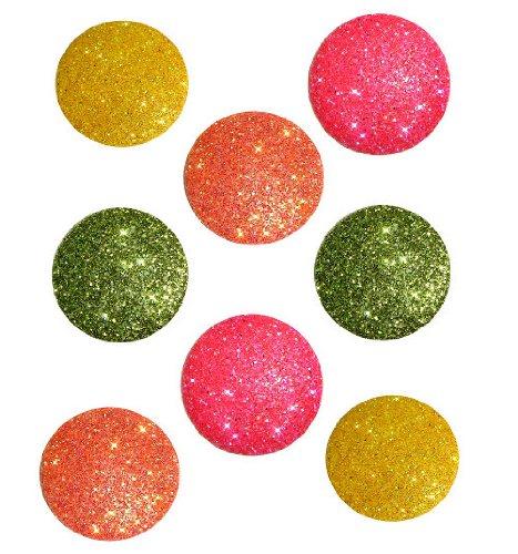 Dress It Up 4740 Big Glitter Dots Scrapbooking Embellishment, Tropical Big Glitter Dots
