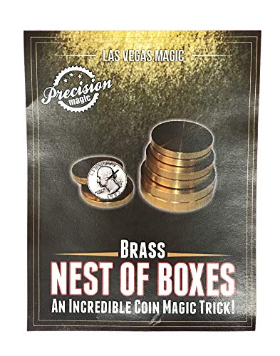 Brass Nest of Boxes - An incredible coin magic ()