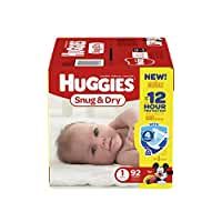 Huggies Snug and Dry Diapers - Size 1 - 92 ct