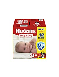 Huggies Snug and Dry Diapers - Size 1 - 92 ct BOBEBE Online Baby Store From New York to Miami and Los Angeles