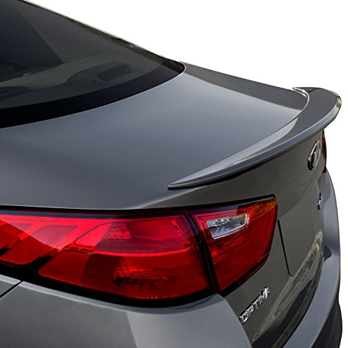(Dawn Enterprises OPTIMA14-FM Factory Style Flush Mount Spoiler Compatible with Kia Optima - Ebony Black (EB) )