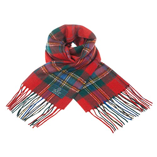 Clans Of Scotland Pure New Wool Scottish Tartan Scarf Maclean Of Duart (One Size)