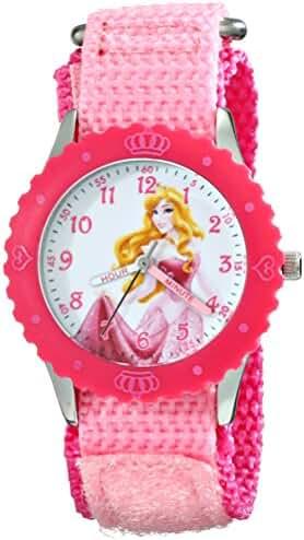 Disney Kids' W001920 Princess Analog Display Analog Quartz Pink Watch