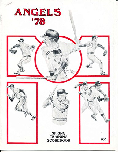 March 25 1978 California Angels Cubs Program spring -