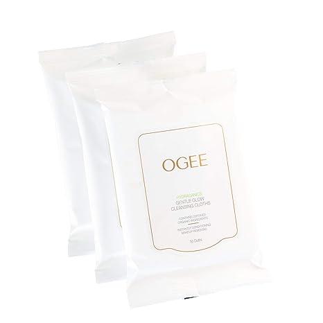 Ogee - Toallitas desmaquillantes diarias para la cara – Limpiador facial orgánico y natural – Toallitas