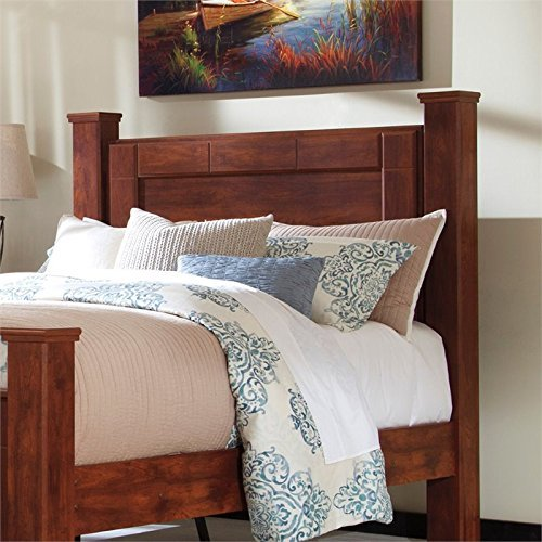 Ashley Furniture Signature Design - Brittberg Poster Headboard Panel - Queen Size - Component Piece - Brown (Finish Set Poster Bed Wood)