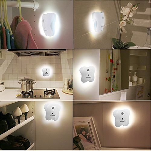 Price comparison product image TedGem Motion-Activated LED Night Light,  Wireless Battery-Powered LED Light,  Auto On / Off Magnet Stick-Anywhere Night Light - 1 Pack