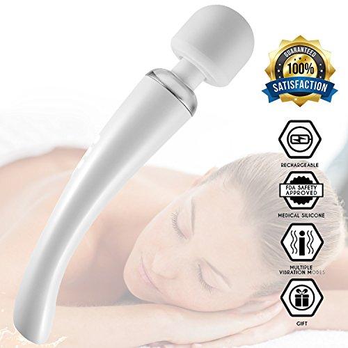 Wand Massager, James Love Therapeutic Cordless Personal Wand Massager Kit...