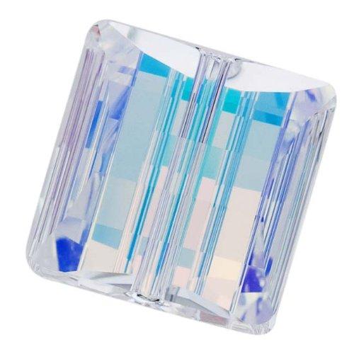 Swarovski Square Beads Ab - Swarovski Crystal, 5624 Stairway Square Beads 14mm, 2 Pieces, Crystal AB