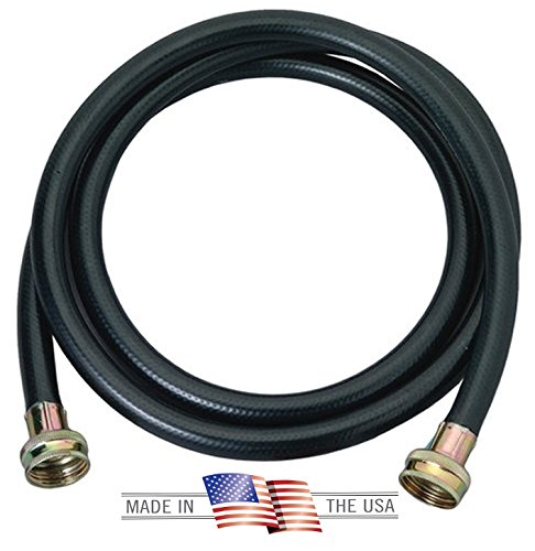 Washing Machine Hose Black Rubber, 6 Foot, Made in the USA - 2 PACK …