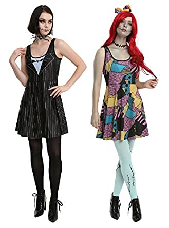 Nightmare Before Christmas Jack & Sally Reversible Dress (Small)