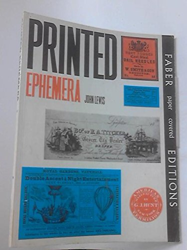 Printed Ephemera: The Changing Use Of Type And Letterforms In English And American Printing