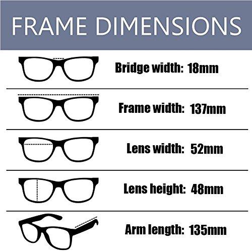 azul Claro Xinvision Anti Gafas luz UV Lente Hombre Computadora Filtro Lente de fatiga ojos los Previniendo Anti Plata Moda Claro Mujer x4BqPgwY
