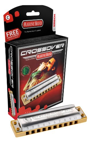 Hohner M2009BX-G Marine Band Crossover Boxed, Key of G (Hohner Marine Band Harmonica G)