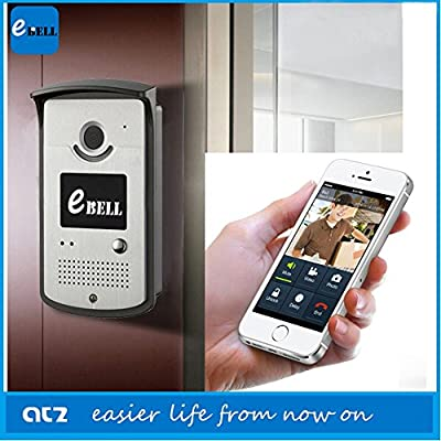 EBELL ATZ-DBV03P Intelligent WIFI Doorbell 720P (1080720) Multifunction Wireless WiFi Smart Video Visual Door Phone IP P2P Detection Home Security for iOS Android WIFI(5G) 802.11 Mobile Phone Tablet