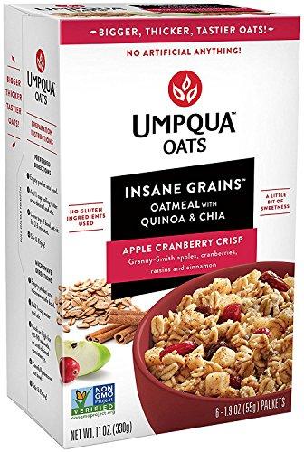 Price comparison product image Umpqua Oats Insane Grains Instant Oatmeal Packets Apple Cranberry Crisp 1.9 Ounce 4 Cartons (24 Count)