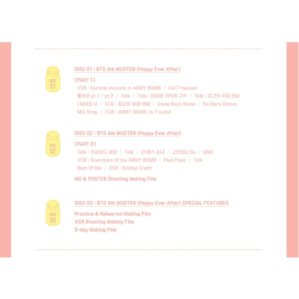 Bts 4th Muster Happy Ever After DVD + Gift Transparent Card