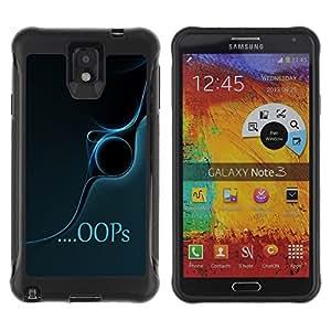 Suave TPU GEL Carcasa Funda Silicona Blando Estuche Caso de protección (para) Samsung Note 3 / CECELL Phone case / / Oops /