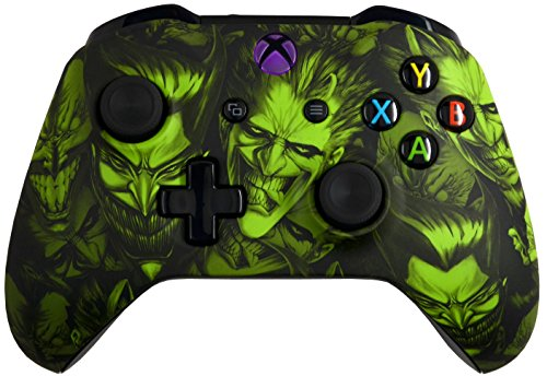 5000+ Modded Xbox One Controller for All Shooter Games - Soft Touch Shell - Added Grip for Longer Gaming Sessions - Multiple Colors Available (Green Joker) (Xbox Modded Controller Purple)
