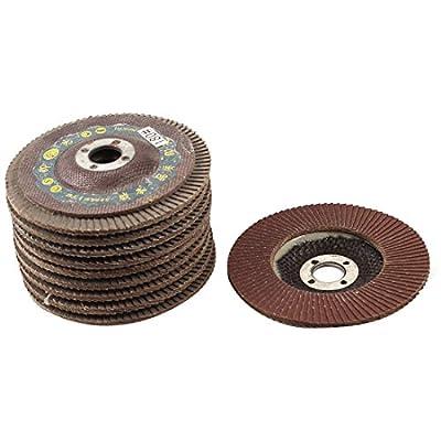 uxcell Metal Polishing 100mm Dia 180# Flap Sanding Abrasive Wheel Discs 10Pcs